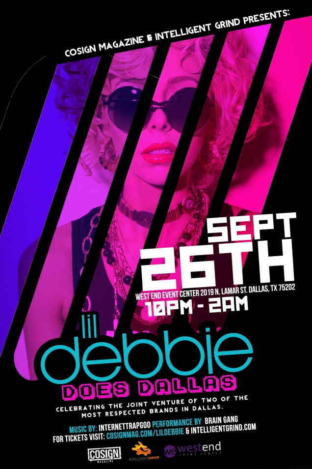 Lil Debbie Does Dallas 9/26 @ West End Event Center