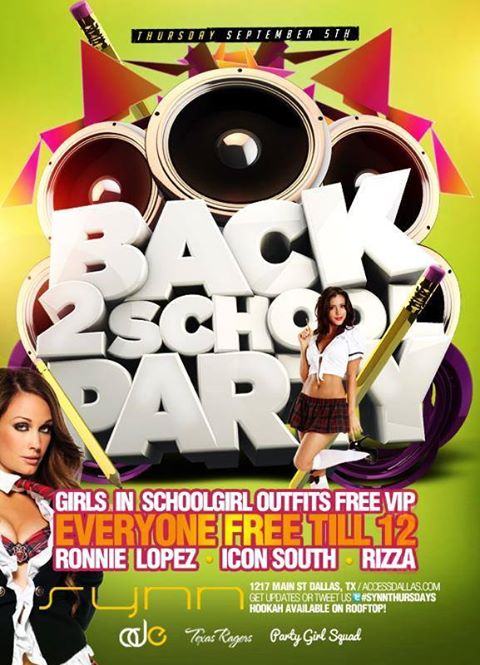 Back To School Bash Featuring DJ Ronnie Lopez and Charlie B