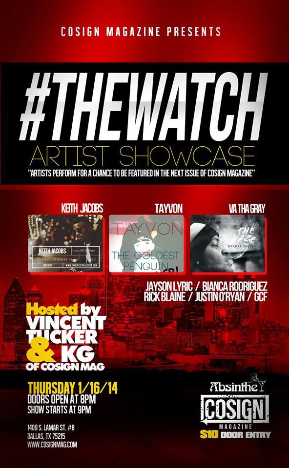 #TheWatch Artist Showcase Pesented by Cosign Magazine Tonight!!
