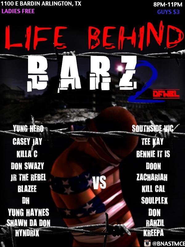 DFW Battle League Presents: Life Behind Bars 2